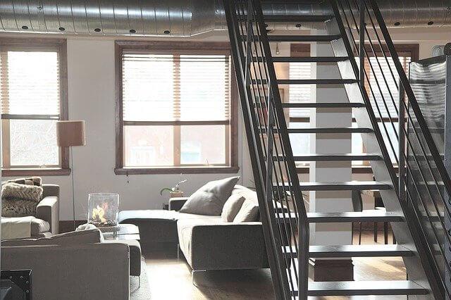 escalier metal acier
